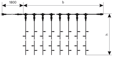 Схема Гірлянда Curtain(Штора) LED